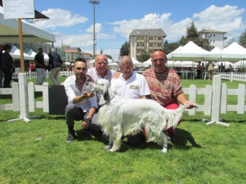 team fortino con rik delle querce merizie in expo internazionale